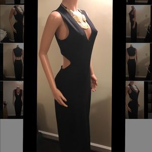 Classy Cut-out Black Gown by Express